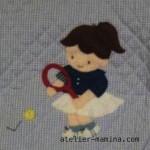 A-13  テニスをする女の子