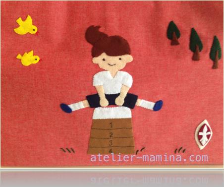 A-6:跳び箱をする女の子