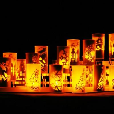 ✴︎ホテルにて販売開始。暖かい灯の切り絵ランプ